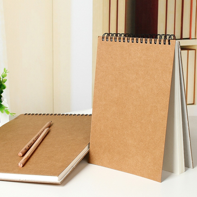 Breve libro de bocetos de papel kraft A4/A5 bobina de arte profesional libro de bocetos