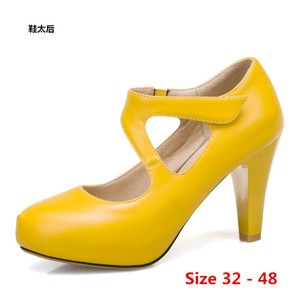 High Heel Shoes Woman Pumps Wedding Party Shoes Platform Dress Women Shoes High Heels Ladies Shoes Small Big Size 32 - 48