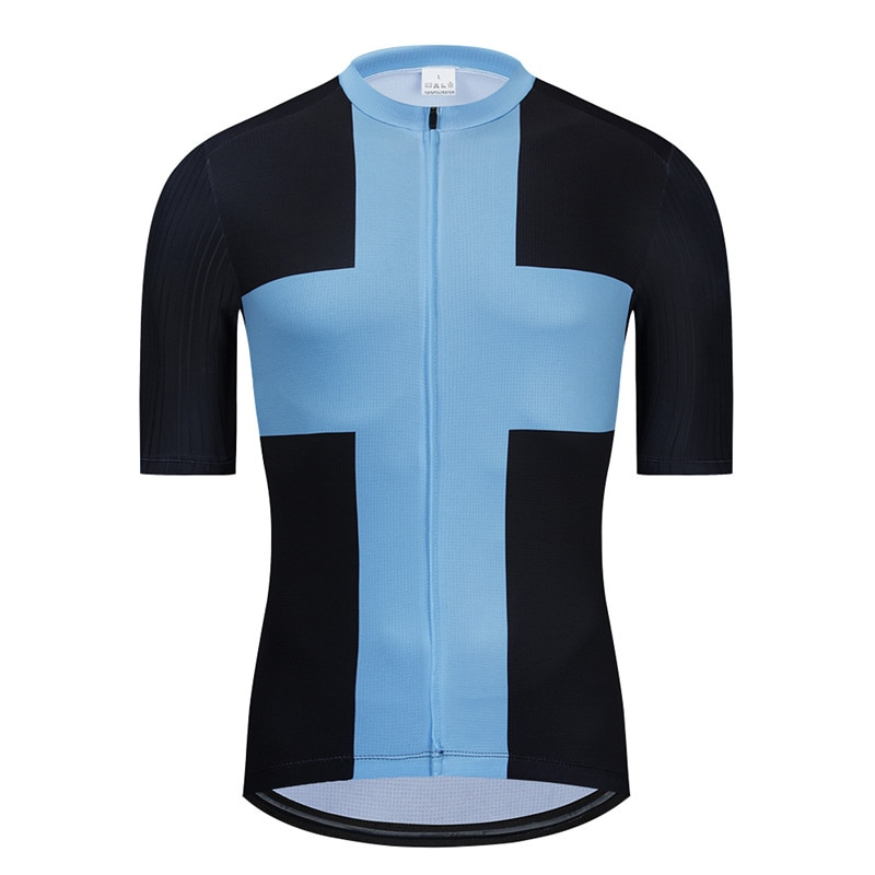 2020 nuevo Ciclismo jersey manga corta hombres carrera encaja camisa de bicicleta...