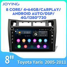Joying 8 inch head unit auto radio player 4GB + 64GB unterstützung Carplay/Android auto/schnelle boot für Toyota Yaris 2005-2011 RDS mit 4G