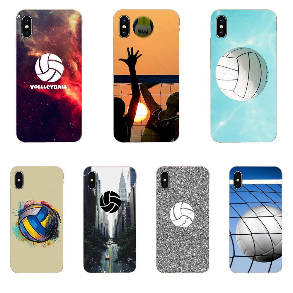 Fundas de teléfono móvil de lujo de voleibol deportivo para Samsung Galaxy Note 5 8 9 S3 S4 S5 S6 S7 S8 S9 S10 5G mini Edge Plus Lite