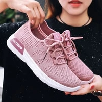 2019 new casual breathable womens shoes running shoes comfortable flying woven breathable mesh sports shoes women