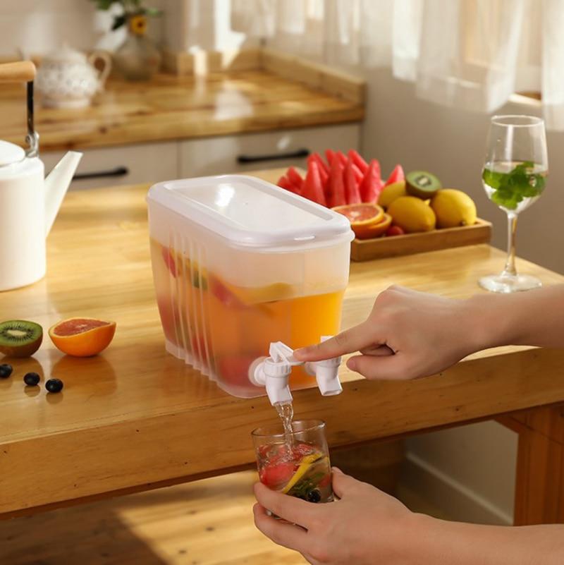 3.5L المنزلية الثلاجة غلاية الماء البارد مع صنبور سعة كبيرة الليمون الفاكهة إبريق الشاي