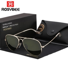 High Quality G15 Glass Lens women men Sunglasses uv400 aviation brand classic mirror male oculos vin