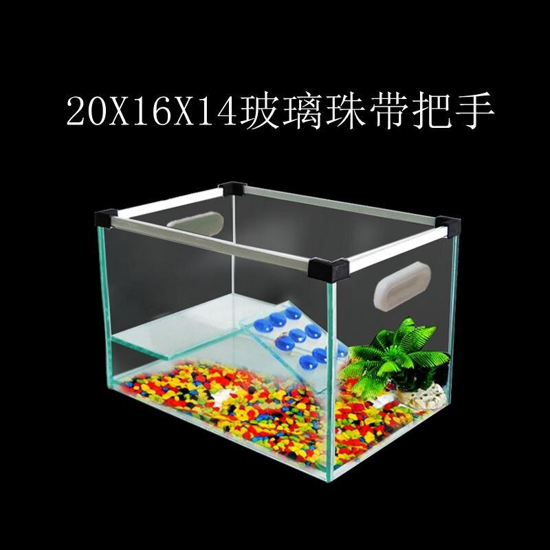 Acuario transparente, caja de cría de tortugas, casa perchada de reptiles con plataforma de secado para tanque de agua de tortuga brasileña