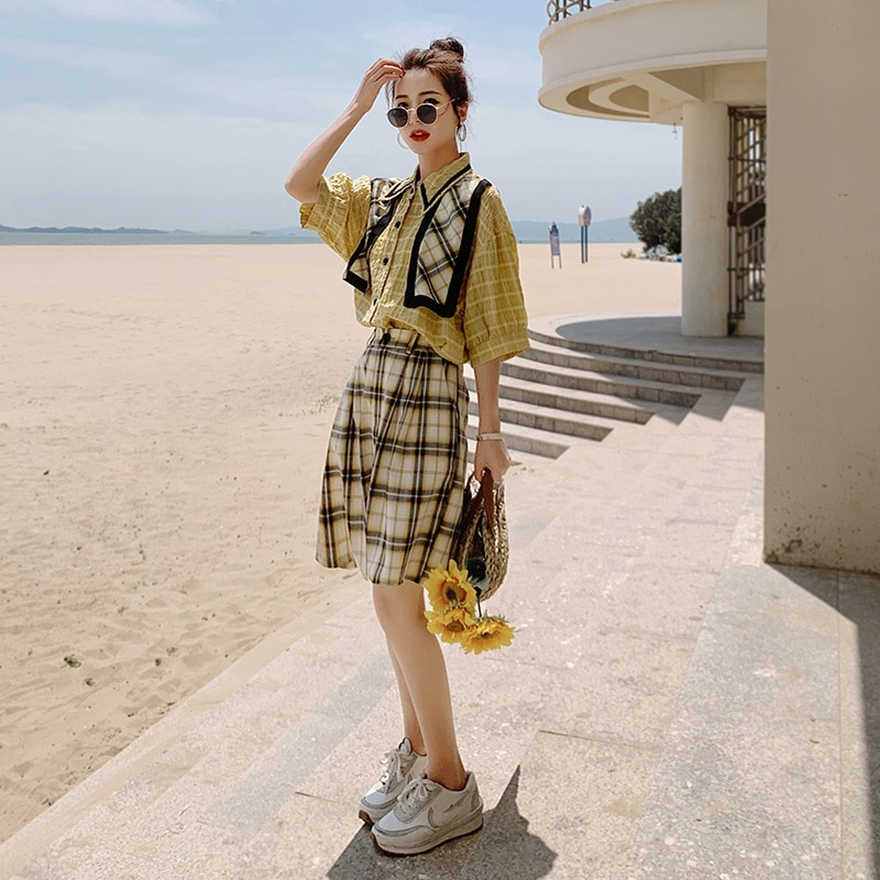 New Products in Stock Featured Products ~ 272-t Anti-Aging Outfits Shirt + Plaid Pants