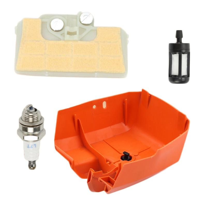 Motosserra spark plug filtro de ar com capa apto para stihl 029 039 ms290 ms310 ms390
