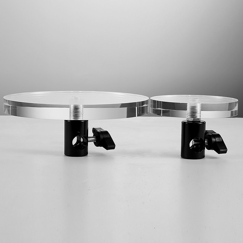 Photography - assisted props still life Clear Acrylic Crystal Table Cosmetics Display Stand Product