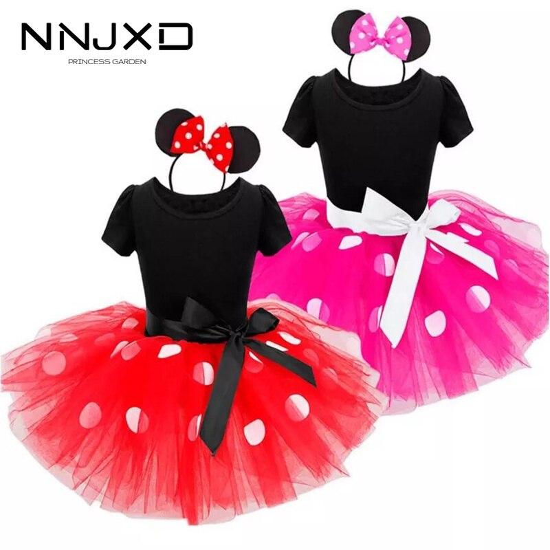 Модные Детские платья для девочек на день рождения, Хэллоуин, маскарадный костюм Минни Маус, Детский костюм Одежда для маленьких девочек 2-6 лет