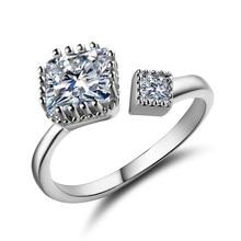 MDEAN ouvert taille mignon Style fête anneaux pour femmes or blanc couleur bijoux AAA Zircon Bague accessoires Bijouterie