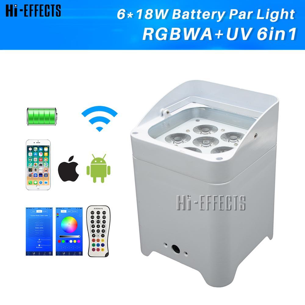 4 unidad 6x18w luz Par RGBWA lavado + + + batería recargable Par DMX inalámbrico luz bañador LED efecto luz de la etapa DJ DE BODA Club