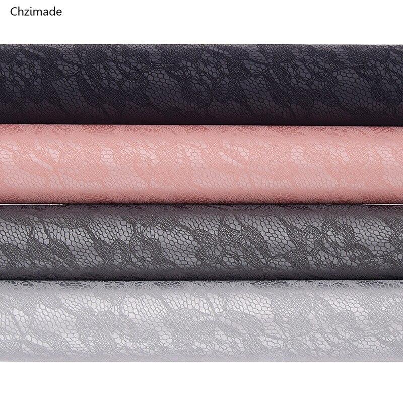 Lychee Life 29x16cm encaje PU tela cuero falso cuero sintético de alta calidad Material DIY para bolso accesorios para el cabello