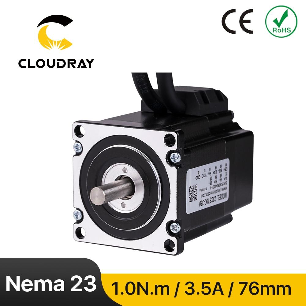 Cloudray Nema 23 محرك متدرج 1.0N.m 3.5A مصد حلقي مغلق محرك معزز مع التشفير لجهاز التوجيه باستخدام الحاسب الآلي آلة نقش بالحفر