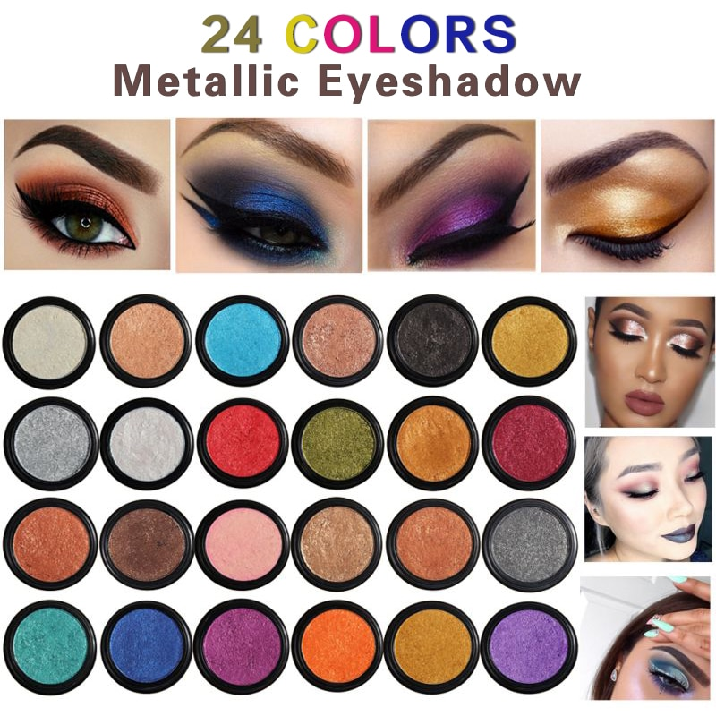 1PC PHOERA Natürlichen Glitter Metall Lidschatten Make-Up Wasserdicht Langlebig Eye Make-Up Monochrome Lidschatten Kosmetik TSLM1