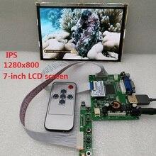 HDMI + VGA + 2AV 7 pouces module daffichage LCD IPS écran LCD panneau LCD HSD070WW1 HD 1280X800 carte pilote de voiture
