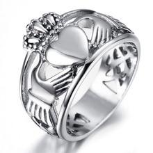 Girly Hartvormige Kroon Ring Temperament Koningin Ring Gift Ierse Love Story Clada Ring