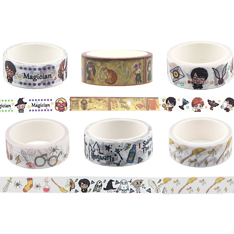 BH1138 Blinghero 15mmX5m Cartoon Washi Tape Scrapbooking Decorative Magic Movie Adhesive Tapes Paper Stationery Sticker