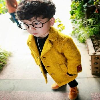 Пальто шерстяное для мальчиков, Осень-зима 2020, новое модное шерстяное пальто для маленьких мальчиков, Модное детское пальто, шерстяное пальто для мальчиков, верхняя одежда