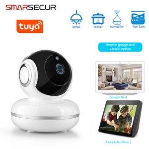 Tuya Smart life WiFi  Camera 2MP 1080P Home Security Mini Camera Night Vision Infrared Two Way Audio