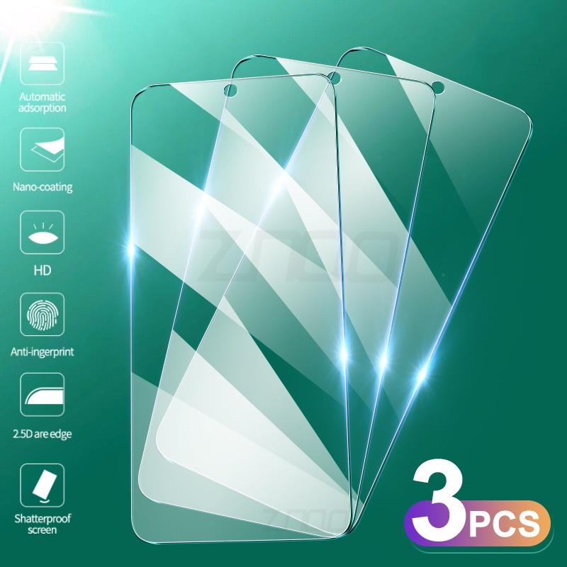3Pcs מזג זכוכית עבור Xiaomi Redmi הערה 9 פרו מקסימום 9S מסך מגן Redmi הערה 10 10S 8 7 K30 פרו 9A 9C מגן זכוכית