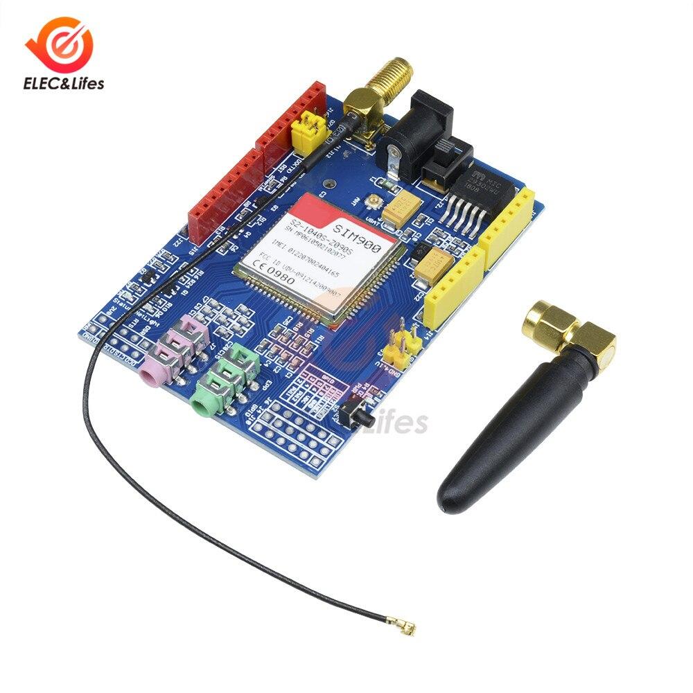 Slot de Cartão Kit de Módulo Gsm para Arduino Rtc com Antena 1900 Mhz Gprs Uno Gpio Pwm Sim Sim900 850 – 900 1800