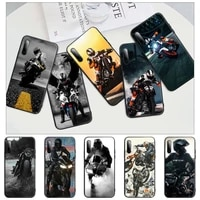 2021 mens motorcycle jackets black rubber mobile phone case for redmi s2 4x 5 5a plus 6 6a 7 7a 8 8a 9 9a cover
