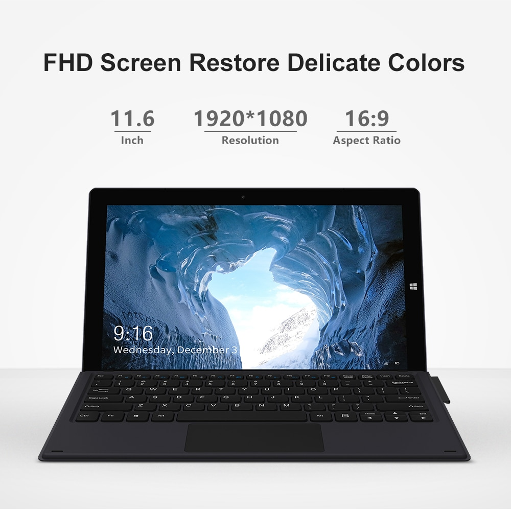 CHUWI UBook 11.6 Inch Tablet PC Windows 10 Intel N4120 1920*1080 Duad core Processor  8GB RAM 256GB SSD Tablets