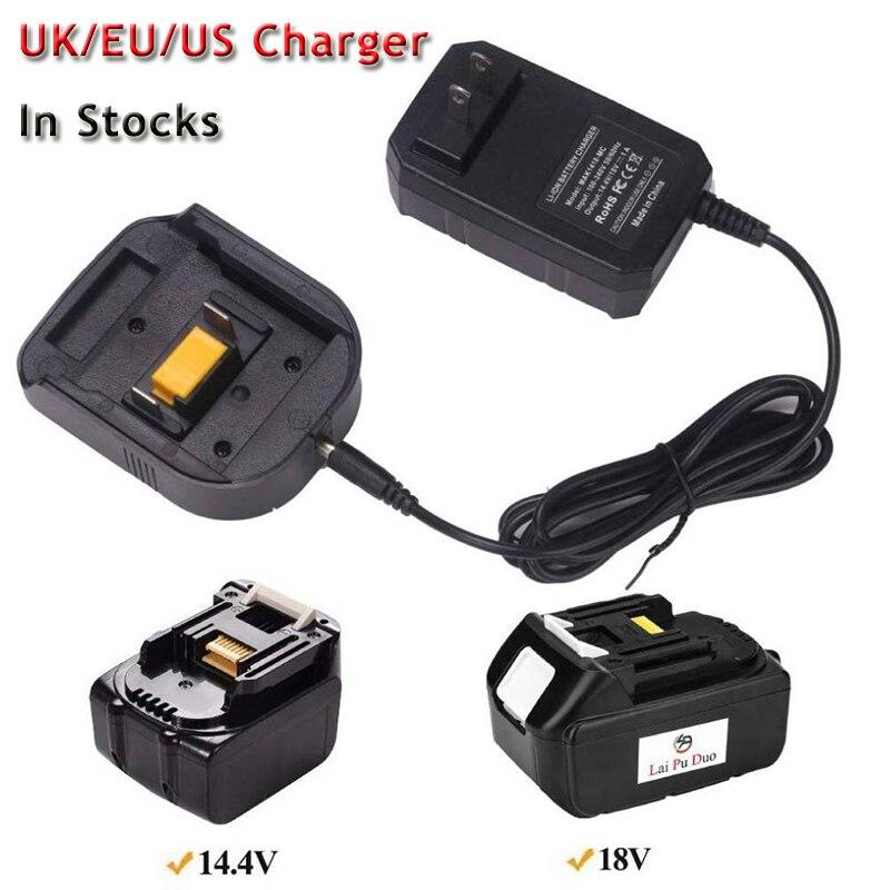 Сменное зарядное устройство для Makita BL1430 BL1830 14,4 V 18V литиевая батарея зарядное устройство UK/EU/US версия компактный дизайн легко носить с собой зарядное устройство для Макита