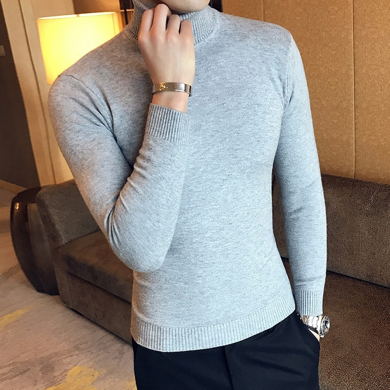 Zoulv Autumn Winter Men 'S Christmas Sweater Casual Warm Mens Knitted Sweaters and Pullover Men New Fashion Turtleneck Sweater