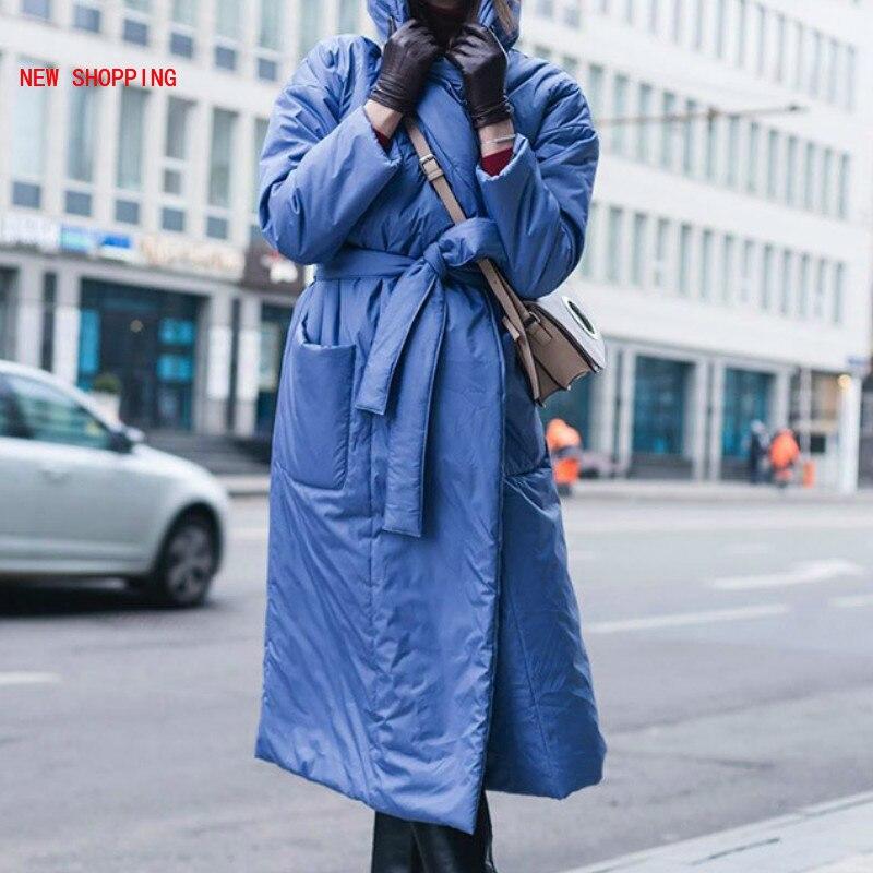 2021 зимние теплые парки, женские модные свободные пальто с карманами, толстовка, новые элегантные женские длинные хлопковые куртки, женские ...