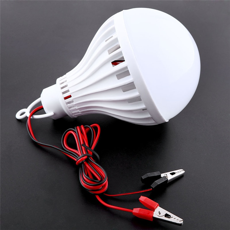 Bombillas LED portátiles, lámpara LED de 12V 18W para casa, Camping, caza, emergencia, tienda de campaña al aire libre, luz colgante de pesca nocturna