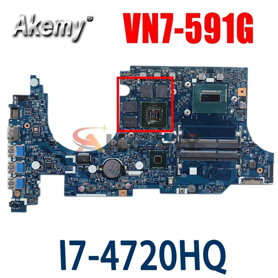 Akemy ordenador portátil placa madre para ACER Aspire VN7-591G placa base 14206-1...