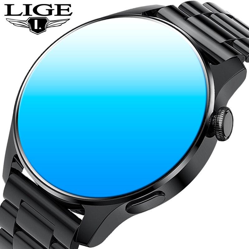 LIGE New Smartwatch Bluetooth Calls Dial Music Smart Watch Men Women Heart Rate Monitor Sport Fitnes