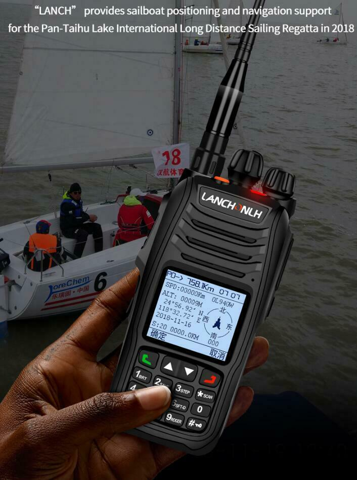 HG-UV98 Dual-banda UHF, VHF APRS Walkie talkie posicionamiento de pista GPS Bluetooth