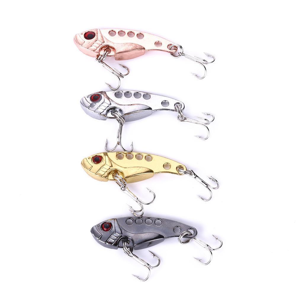Metal vib iscas 6cm 11g vibrações vívidas colher isca de pesca baixo artificial duro isca cicada isca vib 3d olhos
