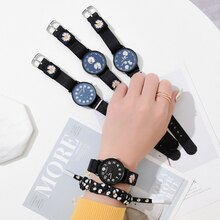 2021 gift clock Trendy dress daisy watch student fashion wristwatch simple couple flower bracelet wa