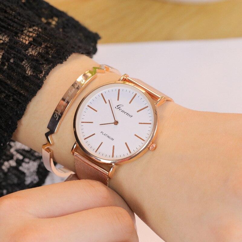 Geneva Top Luruxy Fashion Simple Casual sports Women Watch Analog Quartz Wrist Watch Women Watches Ladies Clock Relogio Feminino