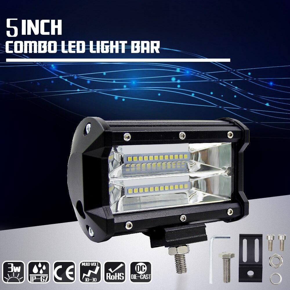 Carritos LED para coche todo terreno 72W 5 pulgadas luz de trabajo...