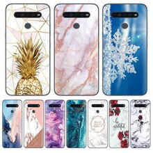 Luxury marble Phone case for LG K41S 4G 6.5 inch Transparent Silicone Soft TPU Back Cover For Lg K41