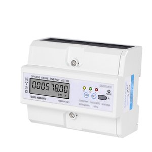 SINOTIMER DDS578MR RS485 220/380V 5-100A 3 Phase 4 Wire DIN Rail Digital Energy Meter With Voltage Current Frequency Display