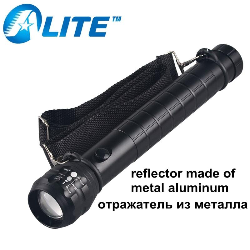 TMWT seguridad 3 w potente linterna antorcha D de tamaño de la batería Flash luz con 18650 soporte de batería funda