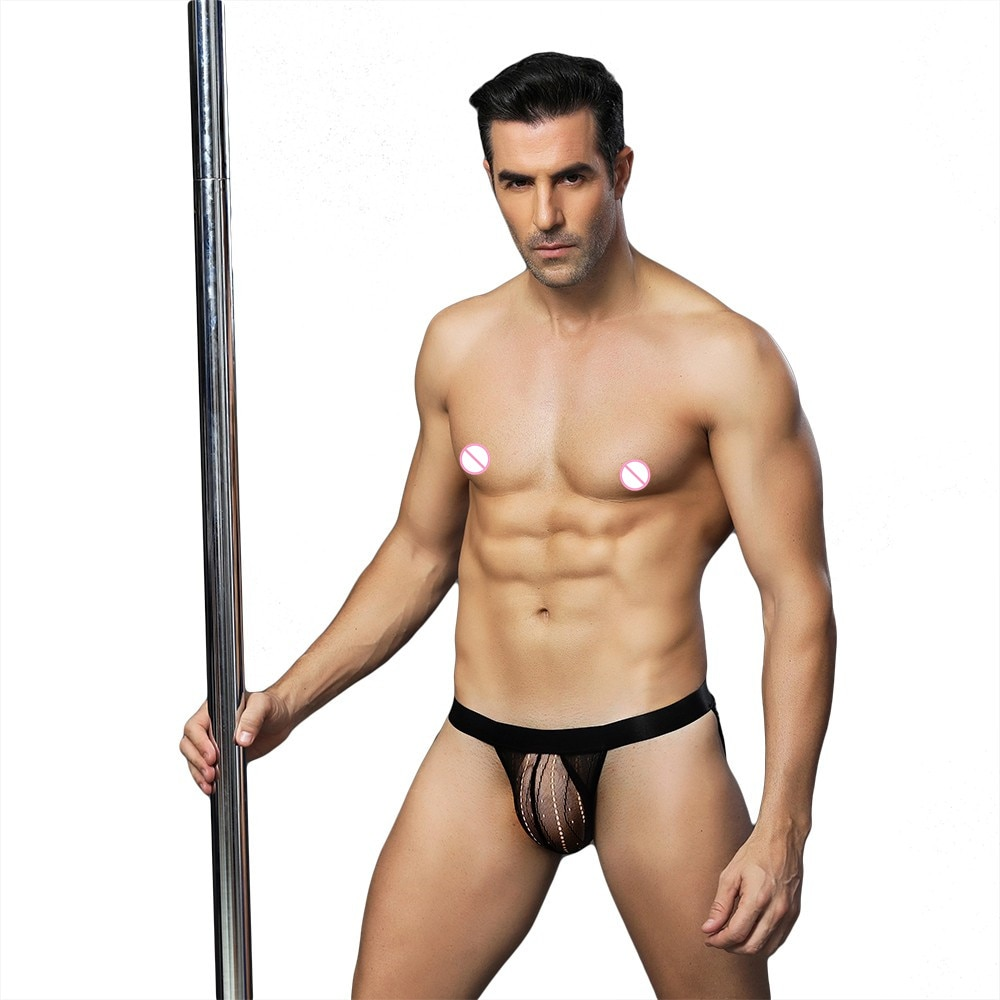 Sexy Gay hommes sous-vêtements Jockstrap Sissy culotte G piqûre string mâle cordes Jock sangle sous vêtements Bikini homme pochette pénis usure 6630