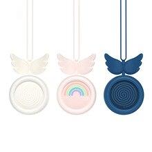 Yeni moda taşınabilir yapraksız asılı boyun fanı fırçasız Motor USB şarj Mini elektrikli Fan ev açık seyahat spor tembel Fan