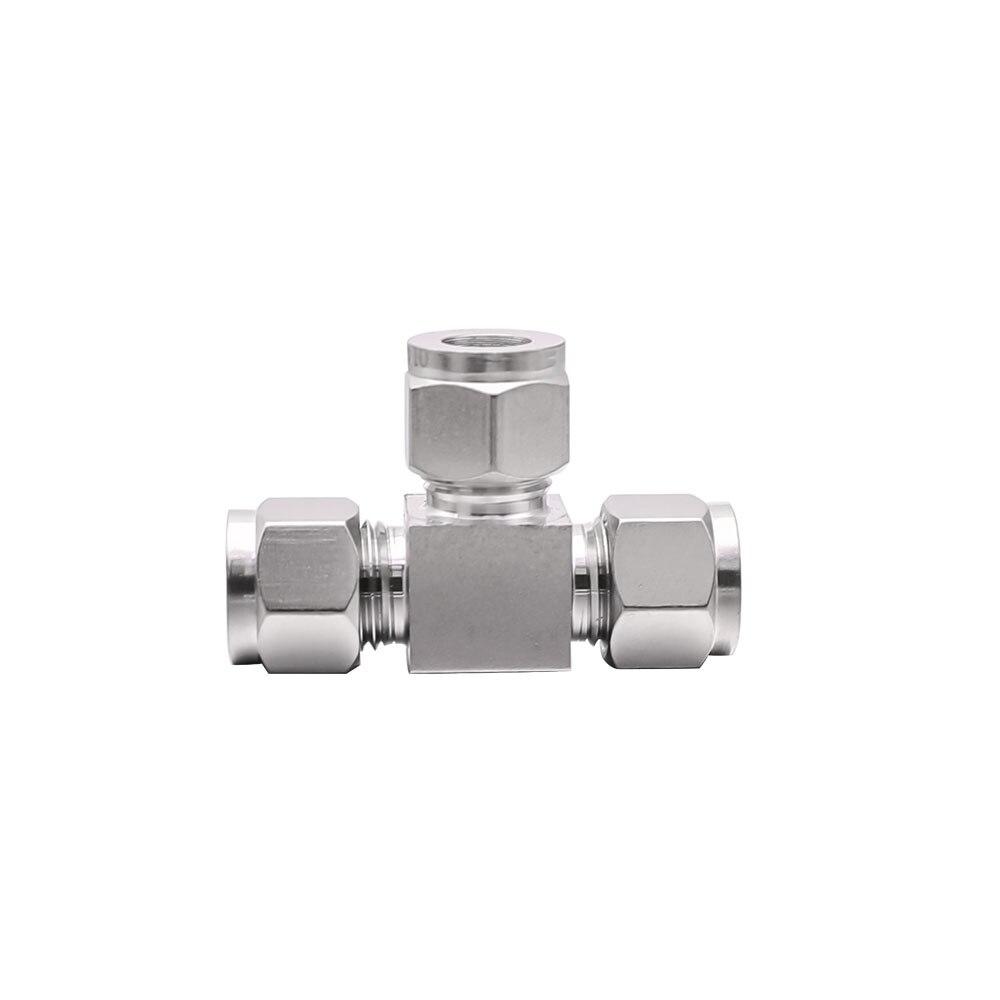 1/8 1/4 3/8 1/2 zoll OD 3-12mm Stahl Gerade SS 304 Conversion Adapter Fitting T Rohr rohr LOK Ferrule kompression