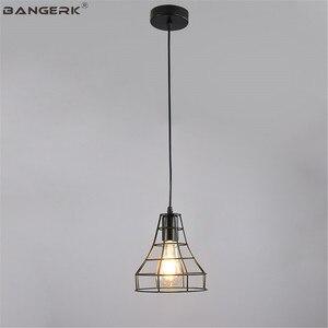 Vintage Hemp Rope Pendant LIght LED Edison Industrial Iron Hanging Lamp Loft Decor Dining Room Lights Antique Home Lighting