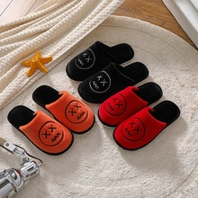 New Autumn Plush Casual Household Soft-soled Cotton Slippers For Men's Indoor Comfort And Warmth Non