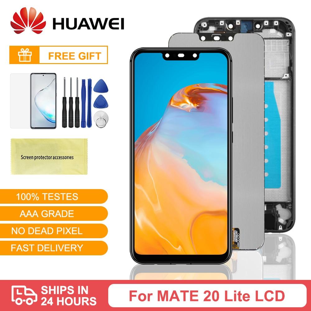 الأصلي لهواوي ماتي 20 لايت شاشة LCD تعمل باللمس محول الأرقام لهواوي ماتي 20 لايت عرض SNE-AL00 SNE-LX1 LCD الإطار
