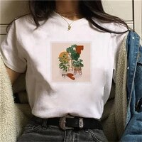 women princess kawaii harajuku t shirt women ullzang cute t shirt green plants graphic tshirt short sleeve funny girls tshirt
