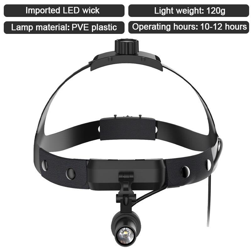 LED Surgery Headlight Dental Headlamp Spotlight Adjustable Brightness with Battery for ENT Oral Dentist Medical Operation Lamp enlarge