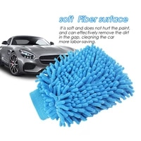 1pair dishwashing coral velvet car silicone rubber washing gloves car washing tool cleaning cloth for household scrubber